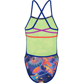 speedo Hi Five Flash Ribbonback Traje de Baño Mujer, navy/blue